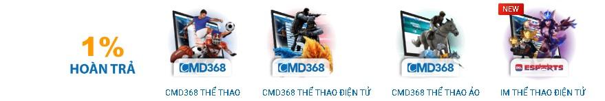 Các trò chơi có tại CMD368